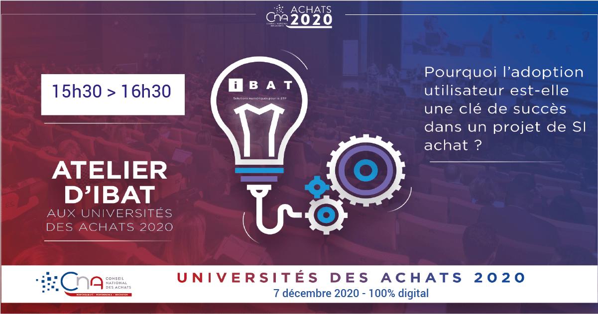 Atelier IBAT Université des Achats 2020